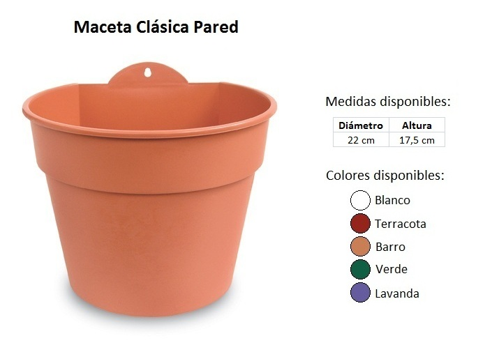 Catalogo de plastico - Macetas para pared ...